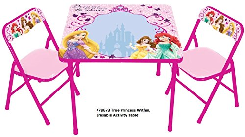 Disney True Princess within Erasable Activity Table Set with 3 Markers (Princess Table compare prices)