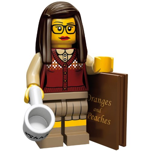 LEGO 71001 - Minifigur Bibliothekarin aus Sammelfiguren-Serie 10