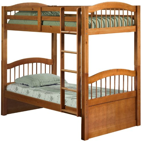 Epic Cheap Triplet Twin Twin Bunk Bed Honey Pine h x w x l