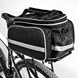 Disconano® Waterproof Multi Function Excursion Cycling Bicycle Bike Rear Seat Trunk Bag Carrying Luggage Package Rack Pannier with Rainproof Cover