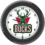 NBA Milwaukee Bucks Everbrite Neon Wall Clock