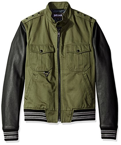 Just-Cavalli-Mens-Military-Shirt-Jacket