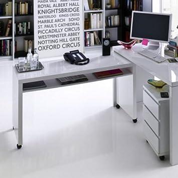 memphis schreibtisch klein wei hochglanz 130x50x71cm. Black Bedroom Furniture Sets. Home Design Ideas