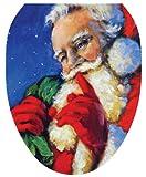 Toilet Tattoos TT-X613-O Secret Santa Decorative Applique For Toilet Lid, Elongated
