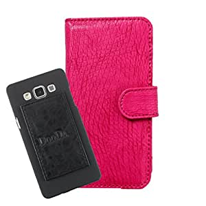 DooDa PU Leather Wallet Flip Case Cover With Card & ID Slots For Sony Xperia E4 Dual - Back Cover Not Included Peel And Paste