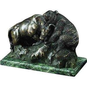 Bronze Wall Street Bull Bear Fight