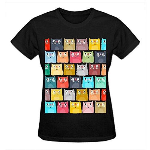 Summer Cats Jgi Crew Neck Tee Shirts Women Black (Salt Life Womens Shirts compare prices)