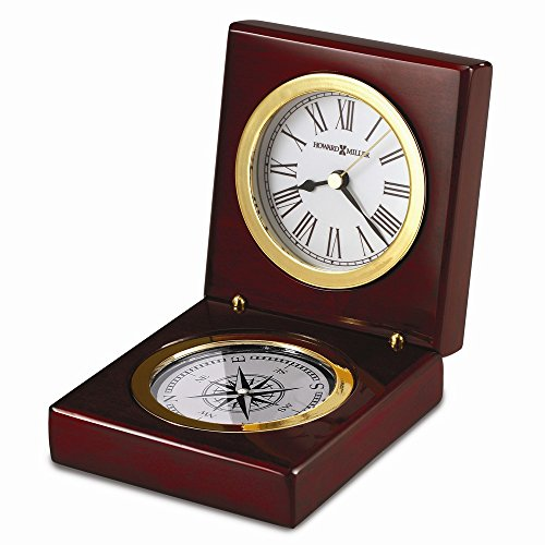Pursuit Rosewood Finish Hinged Clock/compass