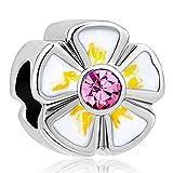 DemiJewelry Yellow Sunflower Flowers Charms Beads Fit Charm Bracelet