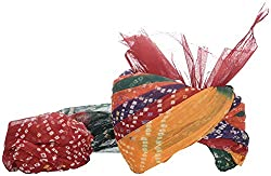 Jodhpuri Fashions Mens Cotton Turban (Multi Color, 9 Meters)