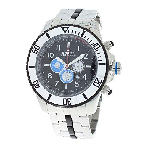 Kyboe! Men's Watch Analogue Quartz Stainless Steel Silver SBC-55-004