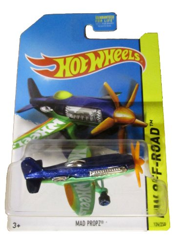 Hot Wheels 2014 Hw Off-Road Daredevils Blue Mad Propz Airplane 124/250