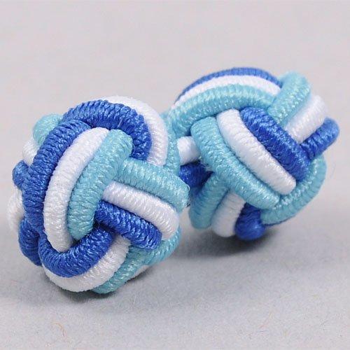 Оззи [00004994] TN0007-B [запонки и запонки] Кос манжеты / ゴムカフス / синий x синий отстой x белый синий белый