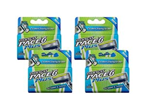 Dorco Pace 6 Plus- Six Blade Razor System with Trimmer- 16 pack