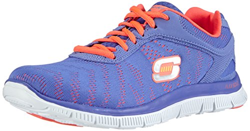 skechers-flex-appeal-first-glance-chaussons-sneaker-femme-bleu-peri-37-eu