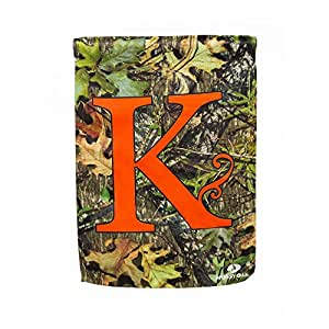 Monogram Garden Flag Letter K Patio Lawn