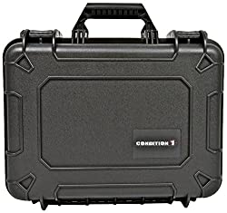 Condition 1 100801 Watertight Black Medium Case with Foam Water Proof Dust Proof Dry Box (Black, Green, Yellow)
