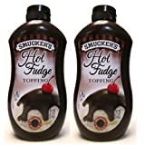 Smuckers Hot Fudge Topping (Pack of 2) 15.5 oz Bottles