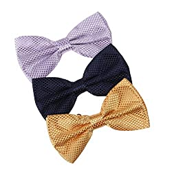 DBE0208 Management Series Bow Ties Microfiber Inspire Fashion 3 Pack Bow Ties Set by Dan Smith