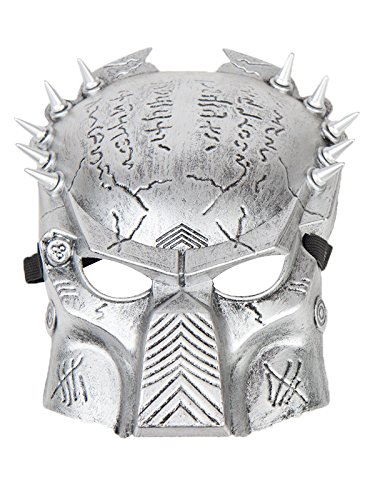[Absolutely Perfect Scary Mens Masquerade Fashion Mask for Halloween Party B Silver One Size] (Homemade Scary Clown Halloween Costumes)