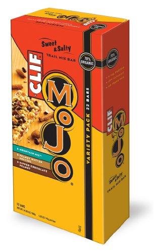 Clif Mojo Bar, Variety Pack, Sweet & Salty Trail Mix Bar, 70 % Organic 22 Count