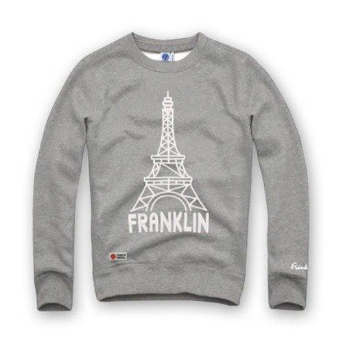 【フランクリンマーシャル】FRANKLIN&MARSHALL トレーナー 裏起毛 メンズ アメカジ FMM206-Gray-Mサイズ