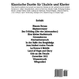 Klassische Duette für Ukulele und Klavier: Ukulele für Anfänger. Mit Musik von Bach, Beethoven, M