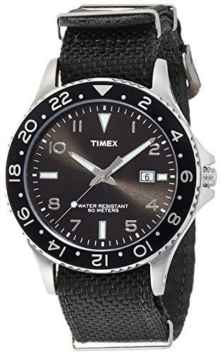 [タイメックス]TIMEX 日本限定 カレイドスコープ ブラックダイアル カーキバリスティックナイロンストラップ T2P029-B メンズ 【正規輸入品】