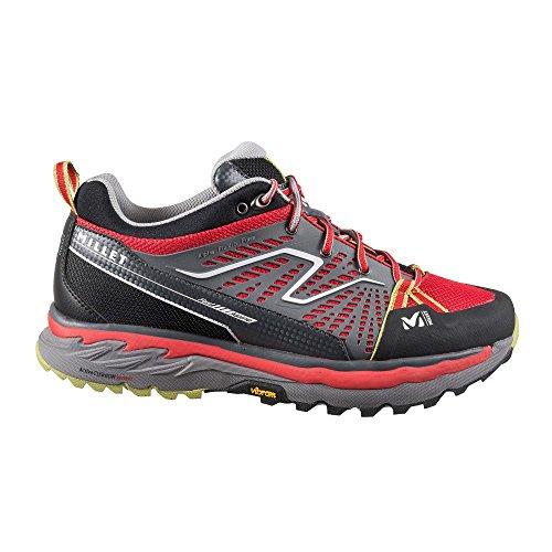 Millet-Scarpe basse da trekking Alpine Fast, colore: rosso/verde, da uomo, taglia: 31,5, colore: rosso