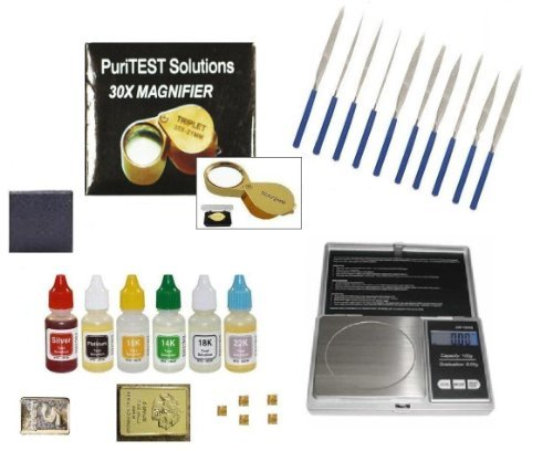 Jewelers Professional Testing And Organizer Equipment-Acids, Electronic Scale, Needle File Set, And More! front-267198