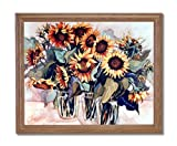 Country Sunflower Floral Kitchen Home Decor Wall Picture Oak Framed Art Print