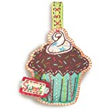 Dimensions D72 73579 Applique Cupcake Ornament Crewel Embroidery Kit 4 x 6½in