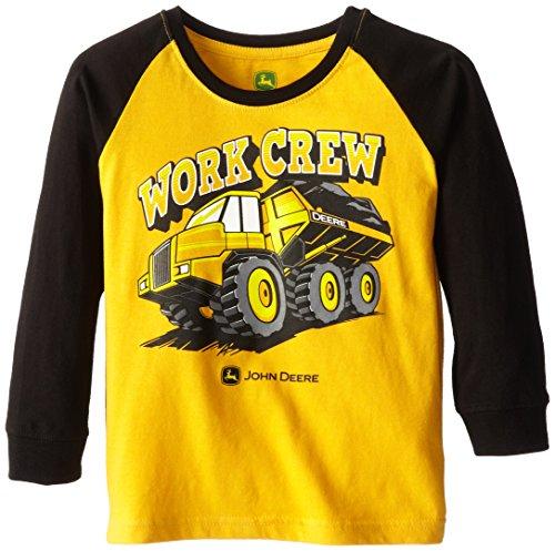 John Deere Little Boys' Construction Work Crew Raglan Tee, Yellow, 5 front-914063