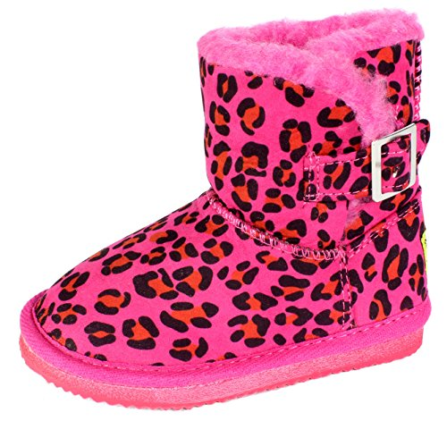 Western Chief Buckle Bootie Cheetah Pink Rain Boot (Infant/Toddler/Little Kid),Pink,9 M Us Toddler
