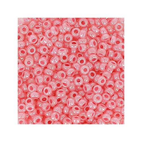 rocaille-miyuki-11-0-535-carnation-pink-ceylon-x8g