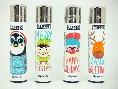 4-x-regular-size-merry-christmas-clipper-lighters-clipper-lighter-gas-lighter