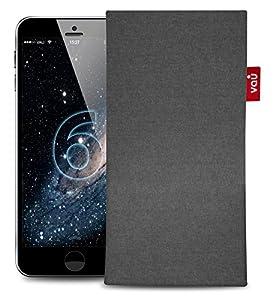 vau Fabric-Sleeve - Rock Gray - Stoff-Tasche mit Microfaserinnenfutter für Apple iPhone 6
