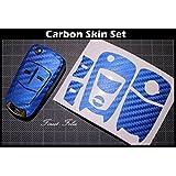 CARBON Blau Folie Dekor Schlüssel Opel Corsa D Astra H Vectra C Zafira B OPC GTC