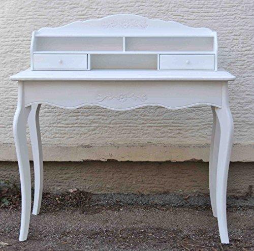 Sekretr-Schreibtisch-Holz-wei-mit-Aufsatz-und-Schubladen-98x45x76-cm