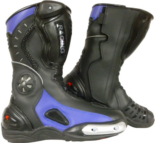 XTRM N705 URBAN Sport Boots Motorbike Motorcycle Racing BOOTS [UK 10 / 44 EU] Black-Blue