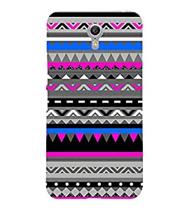 Abstract Zig Zag Pattern 3D Hard Polycarbonate Designer Back Case Cover for Lenovo Zuk Z2 Pro
