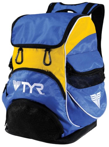 TYR Alliance Team Zaino da Nuoto, Blu Royal/Giallo