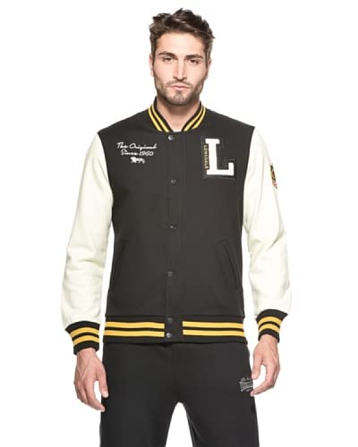 Lonsdale Slim Fit College Bomber College Campus [Nero/Giallo]