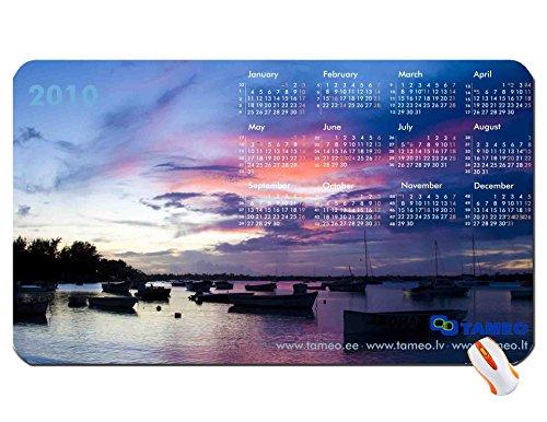 tameo desktop sunset calendar wallpaper super big size mousepad Dimensions: 23.6 x 13.8 x 0.2(60x35x0.3cm)