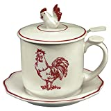Red Rooster Covered Mug