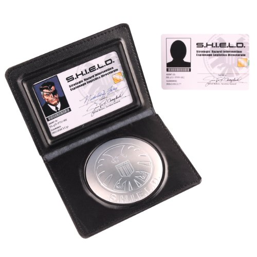 Marvel Officially Licensed Nick Fury S.H.I.E.L.D. Identification Wallet and Badge Set