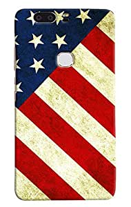 Omnam English Flag Usa Designer Back Cover Case for Huawei Honor V8