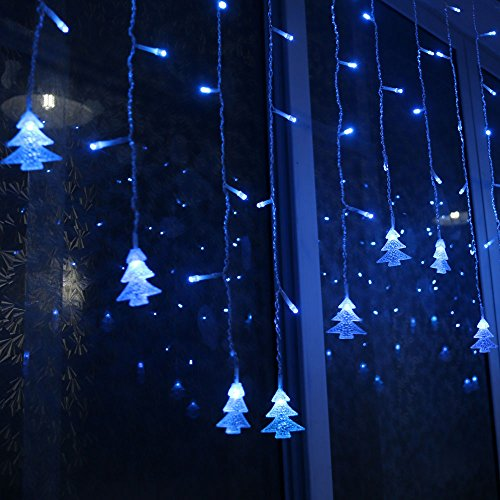 Led String Lights Bedroom : LIANGSM 3.5M 96 LED Fairy Lights Curtain Icicle Starry String Lights for Bedroom Christmas New ...