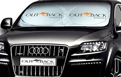 Parabrezza Parasole. Premium Parasole Auto di Sfumature Outback Australiana. Durezza outback per USA! La Migliore Parabrezza Parasole e Protezione per Scatto. Mantiene al fresco il vostro SUV, Automobile o camion. Garanzia a vita.