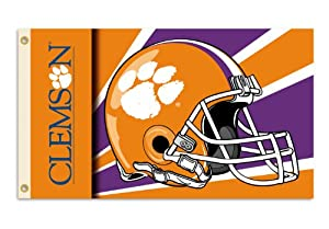 Buy NCAA Clemson Tigers 3-by-5 Foot Flag with Grommets - Helmet Design by BSI